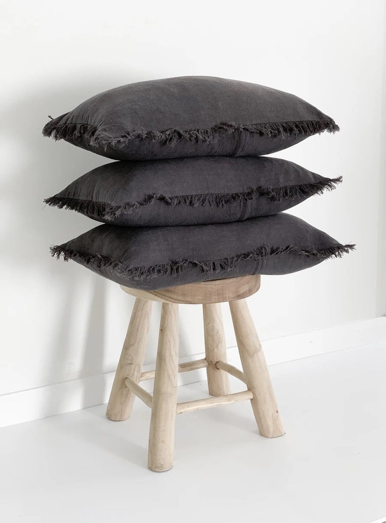 Ramie Lumbar Cushion - Charcoal - Winston and Finch