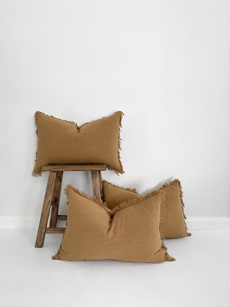 Ramie Lumbar Cushion - Cinnamon - Winston and Finch