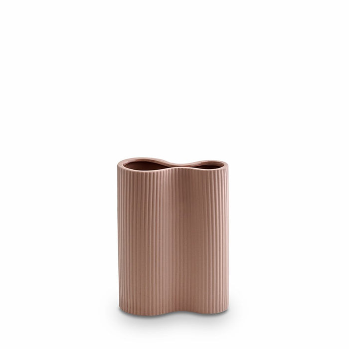 Ribbed Infinity Vase Ochre - Small - Winston and Finch
