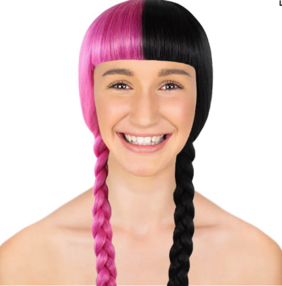 A girl wearing  Double Braid Wig