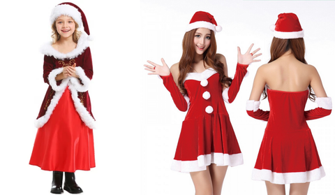 A good looking club party christmas costume for women and girl