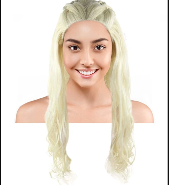 a girl wearing Dragon Queen Wig