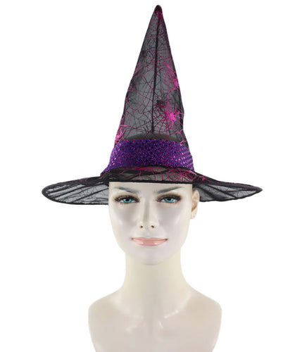 Black & Fuscia Witch Hat HA-001