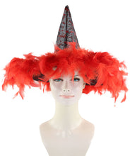Black & Red Witch Hat