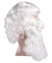 Fancy Santa Claus Wig and Beard Set | White Christmas Wig | Premium Breathable Capless Cap
