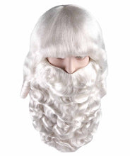Mens Father Xmas Santa Claus Wig and Beard Set | White Merry Christmas Santa Wig | Premium Breathable Capless Cap