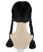 Wednesday Addams Braided Gothic Wig | Black TV/Movie Wigs