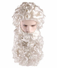 Curly Santa Claus Wig & Beard Set | White Santa Wig