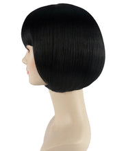 Short Black Bob Wig | Party Ready Fancy Cosplay Halloween Wig