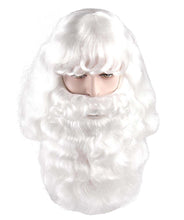Santa Claus Wig & Beard Set | White Merry Christmas Santa Wig
