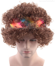Hippie Afro Wig | Brown Curly Cosplay Halloween Wig