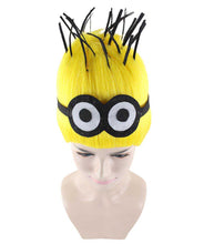 Minions Wig | Yellow Tall Cartoon Film Series Wig