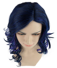 Dark Blue Wavy Wig | Party Event Ready Cosplay Halloween Wig | Premium Breathable Capless Cap