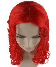 Sexy Long Wavy Red Wig | Party Ready Fancy Cosplay Halloween Wig | Premium Breathable Capless Cap
