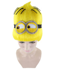 Minions Wig | Yellow Tall Cartoon Film Series Wig | Premium Breathable Capless Cap