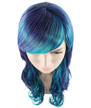 Blended Two-Tone Long Wavy Wig | Long Curly Cosplay Halloween Wig | Premium Breathable Capless Cap