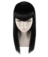 Vampire Black Wig | Horror Sexy Cosplay Party Halloween Wig | Premium Breathable Capless Cap