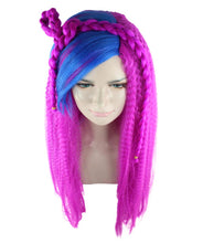 New Monster High Electrified Ari Wig | Neon Fucasia Long Wig | Premium Breathable Capless Cap