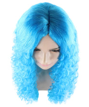 Marine Mermaid Wig | Bright Blue Fancy Party Event Ready Halloween Wig | Premium Breathable Capless Cap