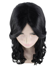 Long Black Wavy Wig | Dramatical Natural Looking Wig | Premium Breathable Capless Cap