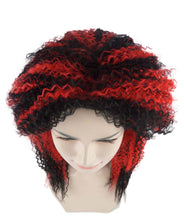 Diabolist Black and Red Style Wig | Super Curly Character Cosplay Halloween Wig