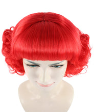 Short Red Cute Curly Wavy Wig | Party Ready Fancy Cosplay Halloween Wig