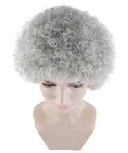 Grandma Grey Wig | Super Size Jumbo Afro Fancy Halloween Wig | Premium Breathable Capless Cap