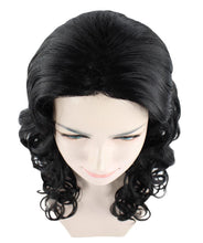 Adult's Womens Glamour Long Black Wavy style Wig HW-1106 - HalloweenPartyOnline
