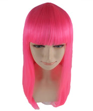 Long Hot Pink Bob Wig | Fancy Party Event Ready Halloween Wig