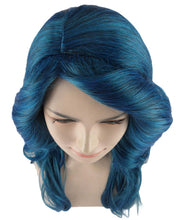 Glamorous Long Blue Style Wig | Stage/Event Fancy Halloween Wig | Premium Breathable Capless Cap