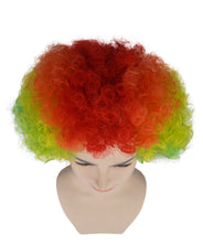 Rainbow Afro Clown Wig | Colorful LGBT Pride Wig | Premium Breathable Capless Cap