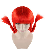 Bavarian Girl Red Wig | Braided Cosplay Halloween Wig