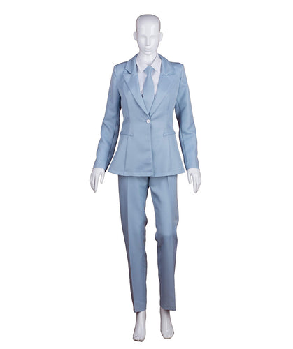 EXCLUSIVE! Women's Deluxe Costume for Cosplay Singer Bowie Lt. Blue Party Suit HC-213