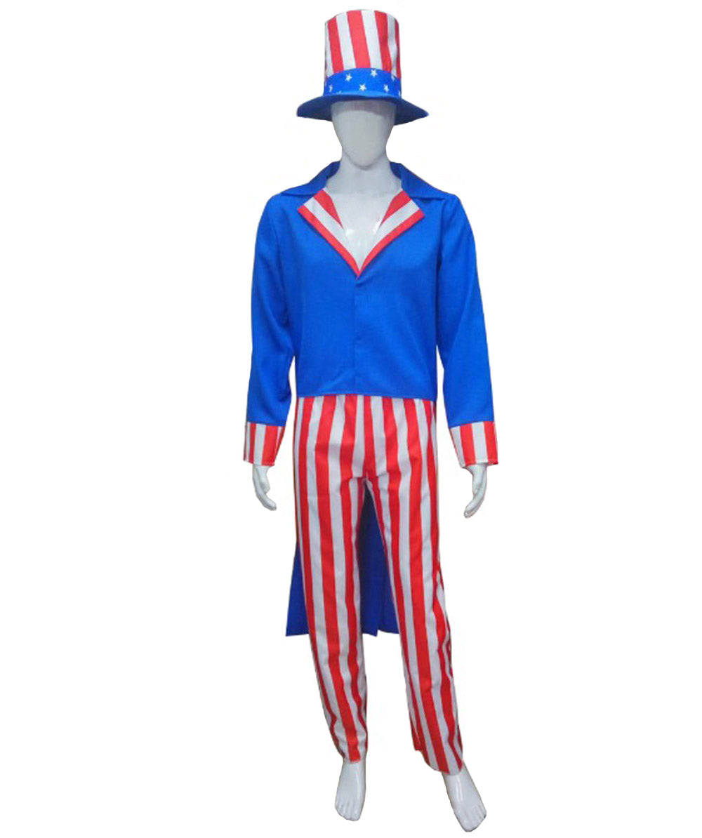 Adult Men's Uncle Sam Costume HC-217 - HalloweenPartyOnline