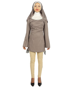 Adult Women's Grey Naughty Nun Costume HC-274