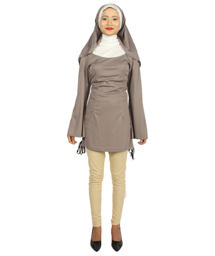 Adult Women's Grey Naughty Nun Costume HC-274 - HalloweenPartyOnline