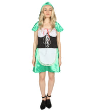 Adult Women's Green Hot Riding Hood Costume HC-285 - HalloweenPartyOnline