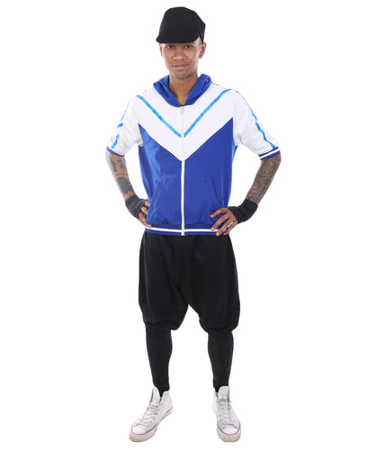 Adult Men's Costume for Cosplay Pokemon Go Trainer Blue Team Uniform HC-358 - HalloweenPartyOnline