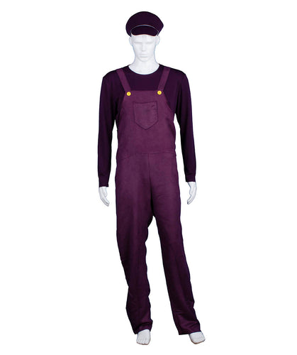 Adult Men's Purple Bad Plumber Costume HC-374 - HalloweenPartyOnline