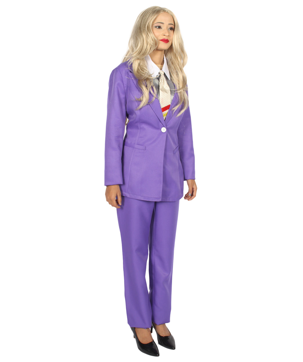 Womenu0027s Deluxe Costume for Cosplay Singer Bowie Purple Prince Party Suit HC- ...  sc 1 st  HalloweenPartyOnline & EXCLUSIVE! Womenu0027s Deluxe Costume for Cosplay Singer Bowie Purple Prin