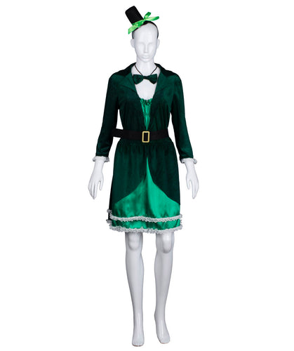 (Same Day Dispatch) Adult Women's Luscious Green Leprechaun Costume HC-422 - HalloweenPartyOnline