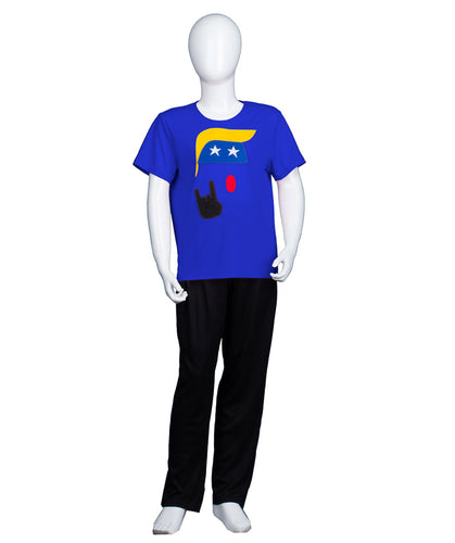 Kids President Trump Logo Blue T-shirt | Halloween Cosplay Costume