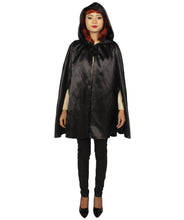Adult Women's Reversible Hooded Short Cape - HalloweenPartyOnline
