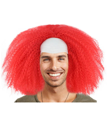Red Bald Clown Wig | Red Scary Wigs