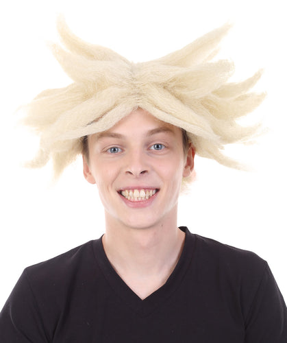 Dragon Ball Z Super Saiyan Trunks Spike Wig | Blonde TV/Movie Wigs