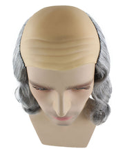 Benjamin Franklin Wig | Silver Wig With Cap