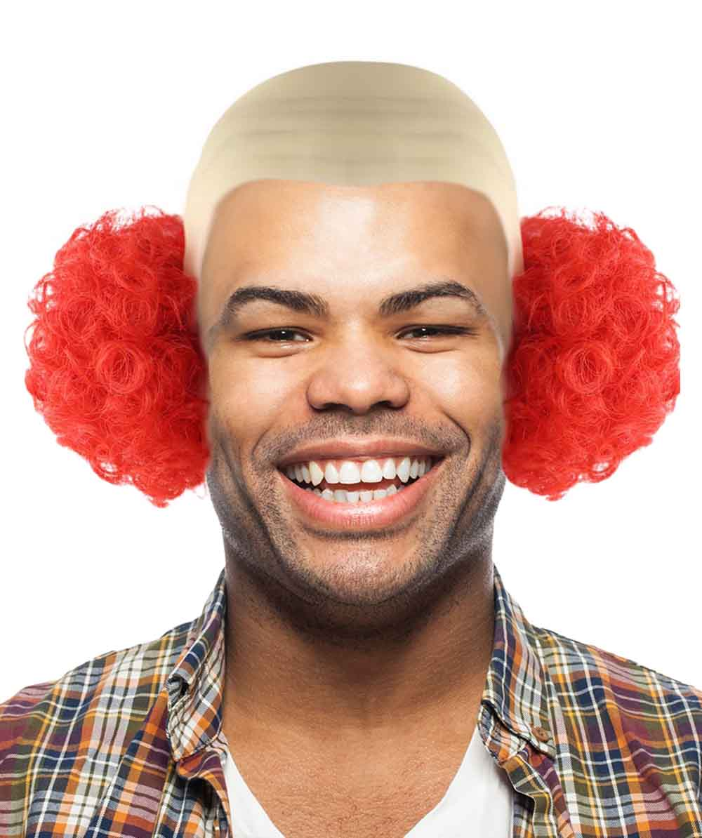 Bald Curly Red Clown Wig HM-318 - HalloweenPartyOnline