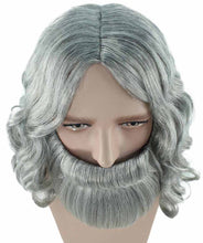 Biblical Wig and Beard Grey Set | Gray Cosplay Halloween Wig