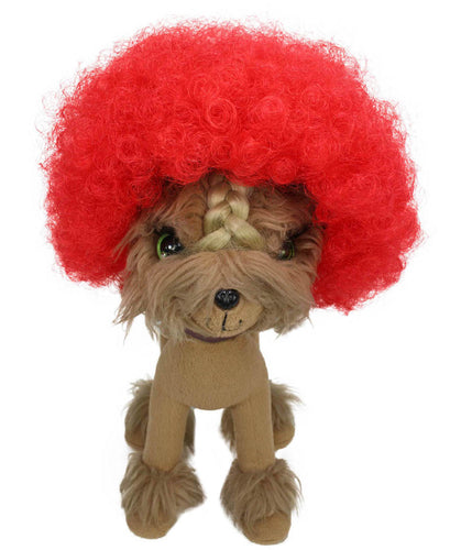 Red Pet Afro Wig