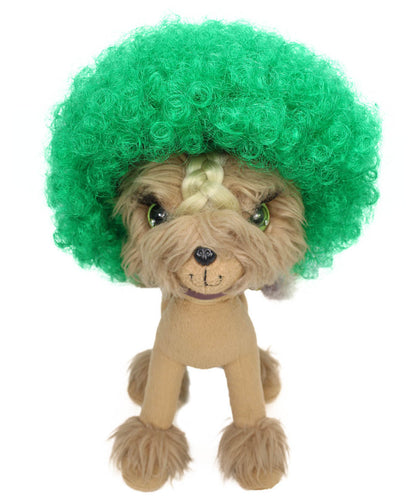 Green Pet Afro Wig